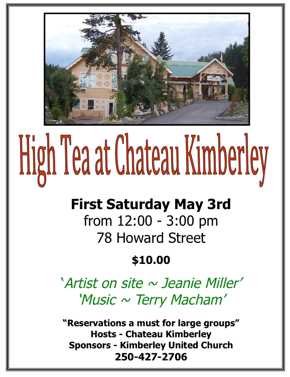 High Tea May 3