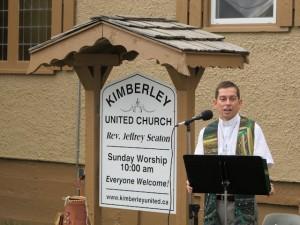 Jeff leading worship