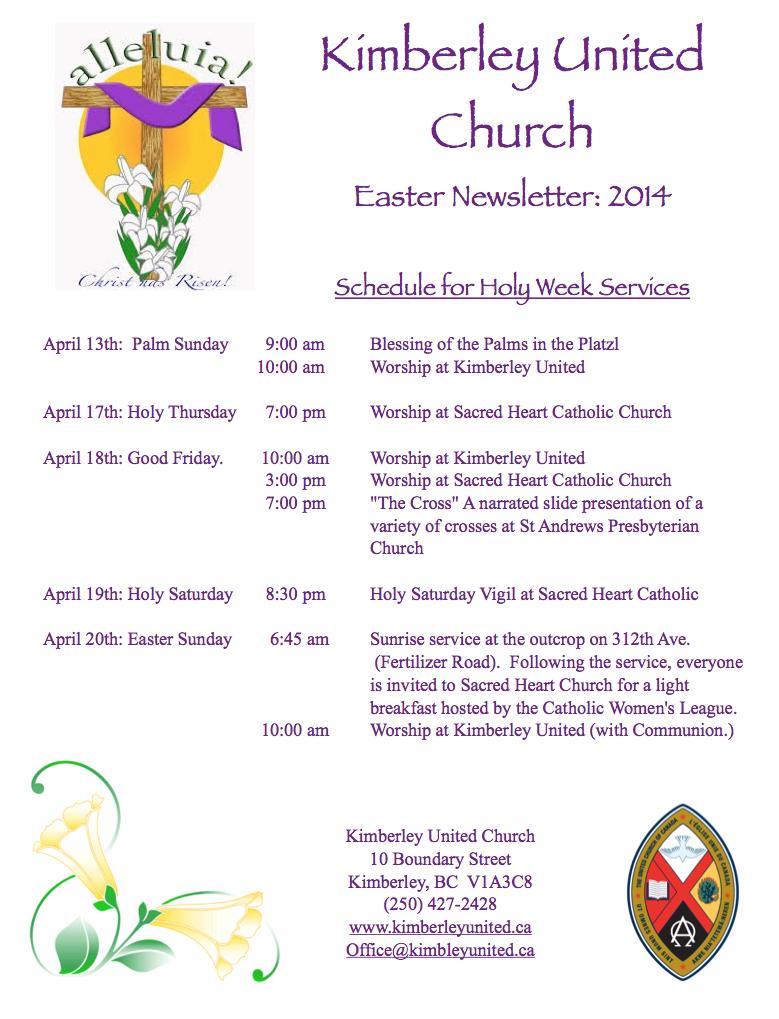 Easter Newsletter Cover